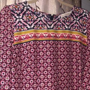 Loft long sleeve boho midi dress